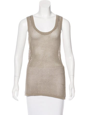 Derek Lam Open Knit Sleeveless Top None