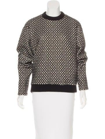 Derek Lam Wool-Trimmed Patterned Sweater None