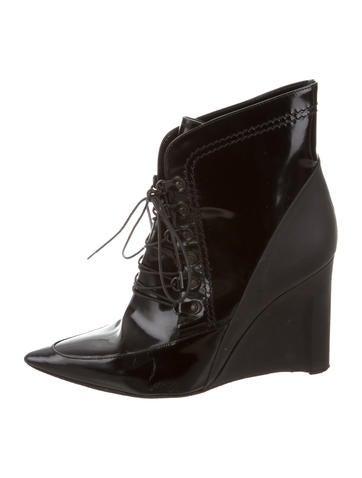 derek lam lace up wedge ankle boots shoes der29719
