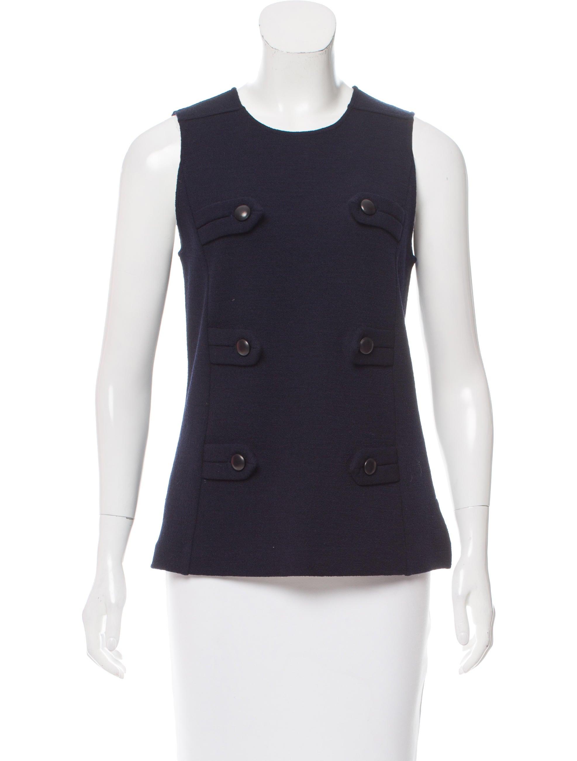 Derek lam wool sleeveless top clothing der29894 the for Best wool shirt jackets