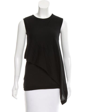Derek Lam Cashmere Asymmetrical Top None