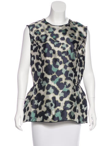 Derek Lam Silk Jacquard Top w/ Tags None