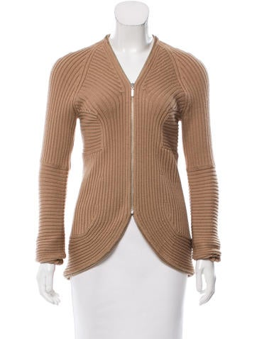 Derek Lam Wool Rib Knit Cardigan None