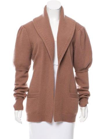 Derek Lam Open Front Cashmere Sweater None
