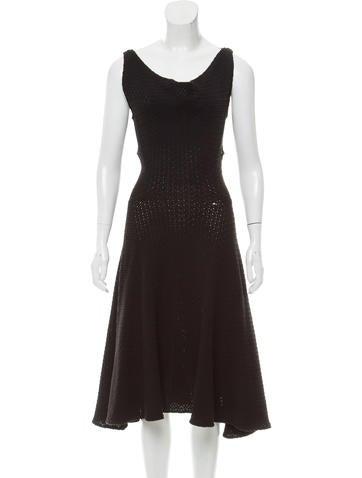 Derek Lam Crochet Sleeveless Dress None