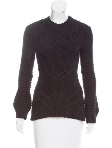Derek Lam Wool Cable Knit Sweater None