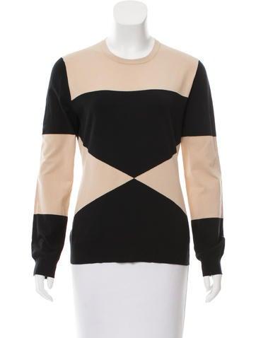 Derek Lam Geometric Colorblock Sweater None