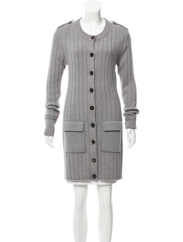 Derek Lam Ribbed Wool Cardigan None