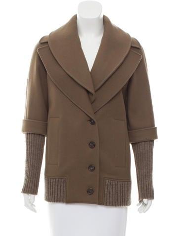 Derek Lam Wool Button-Up Coat None