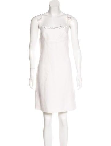 Derek Lam Linen Mini Dress None