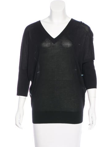 Derek Lam Cashmere & Silk-Blend Sweater None