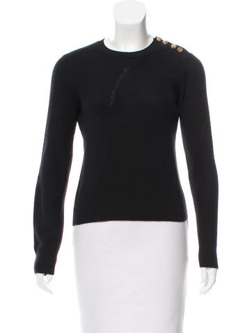 Derek Lam Ribbed Crew Neck Sweater None