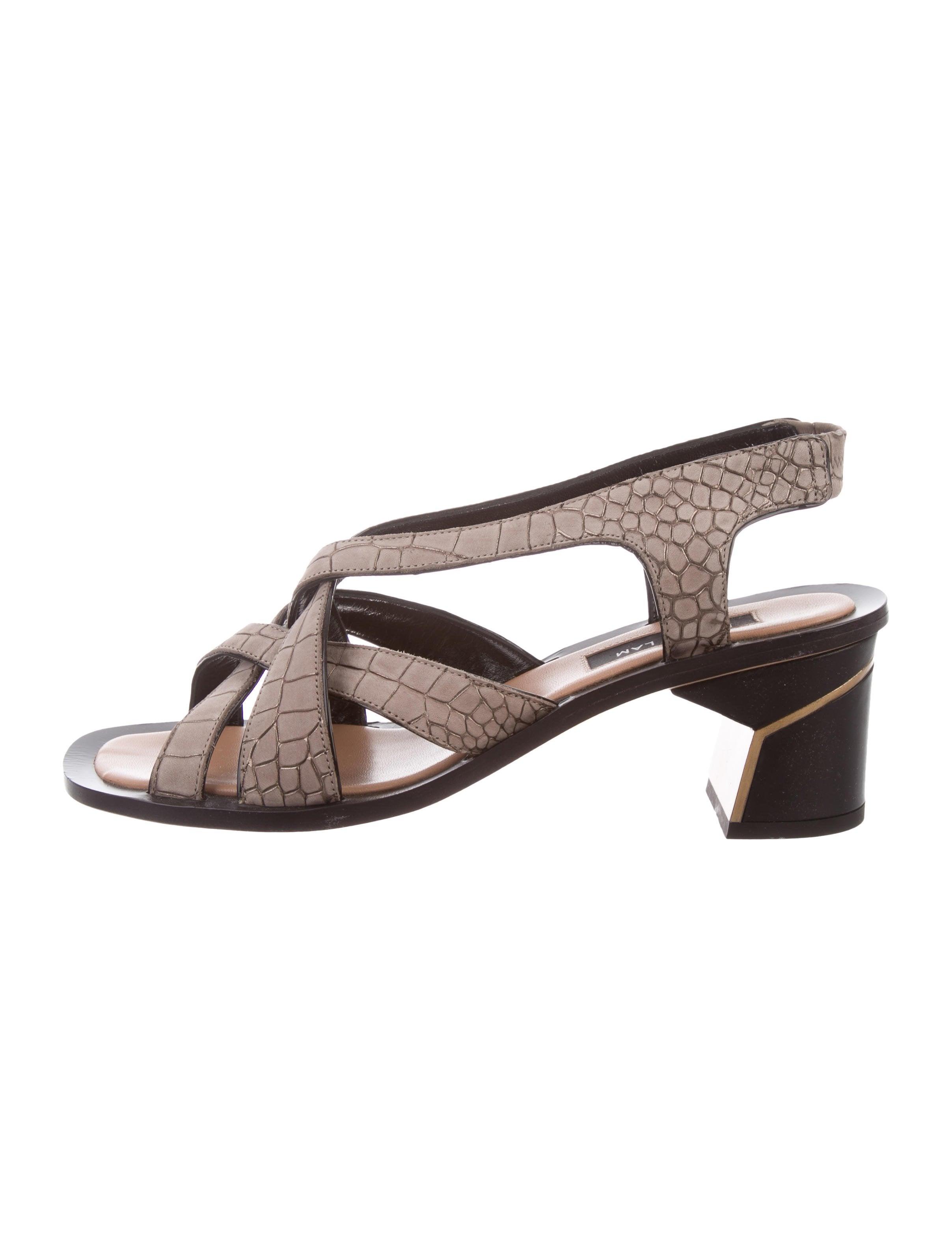 Derek Lam Embossed Suede Sandals cheap sale deals G4Zbgh