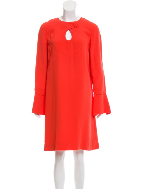 Derek Lam Knee-Length Bell Sleeve Dress Orange