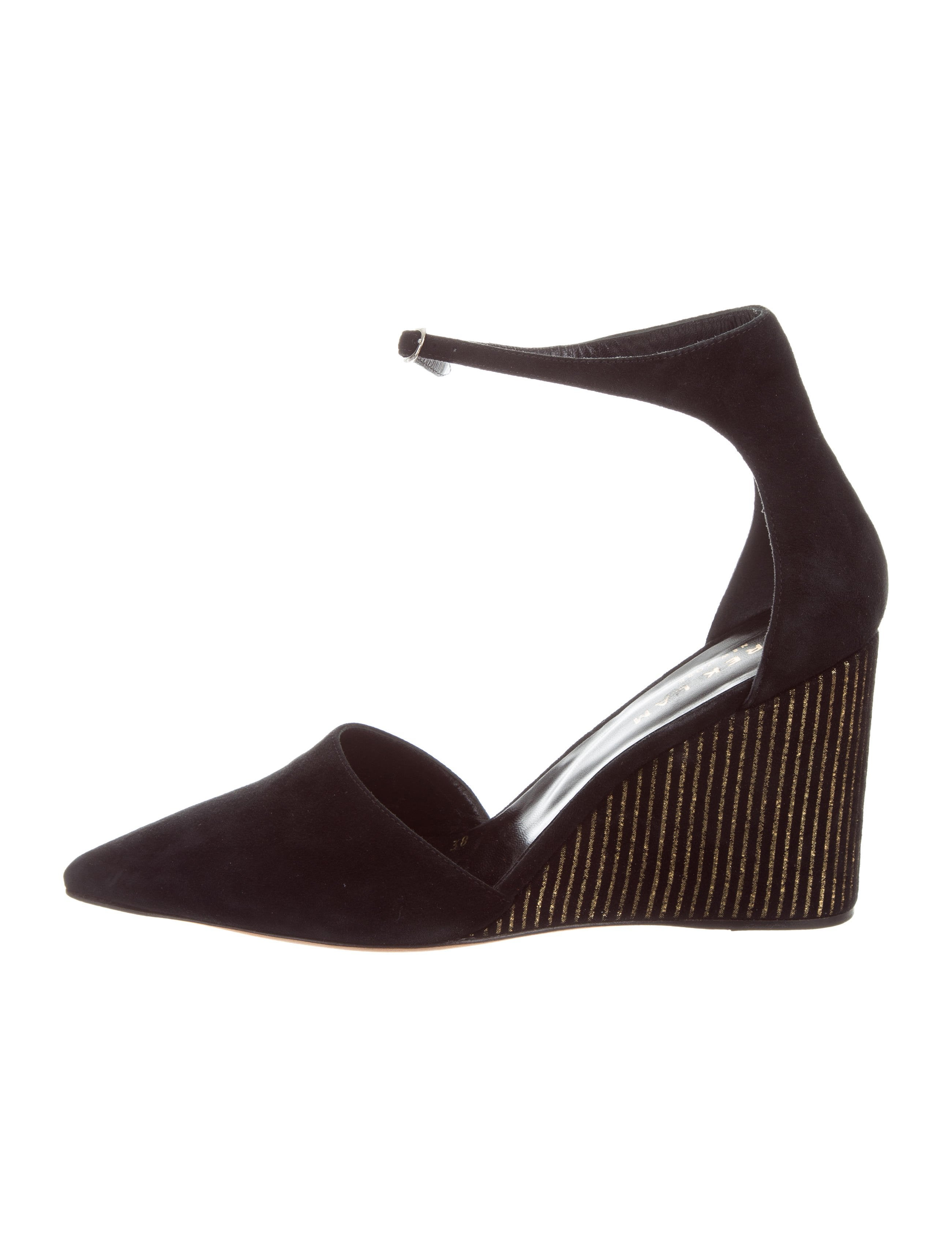 sast for sale Derek Lam Suede Pointed-Toe Wedges prices online low shipping fee cheap price clearance fashionable tfMcFL