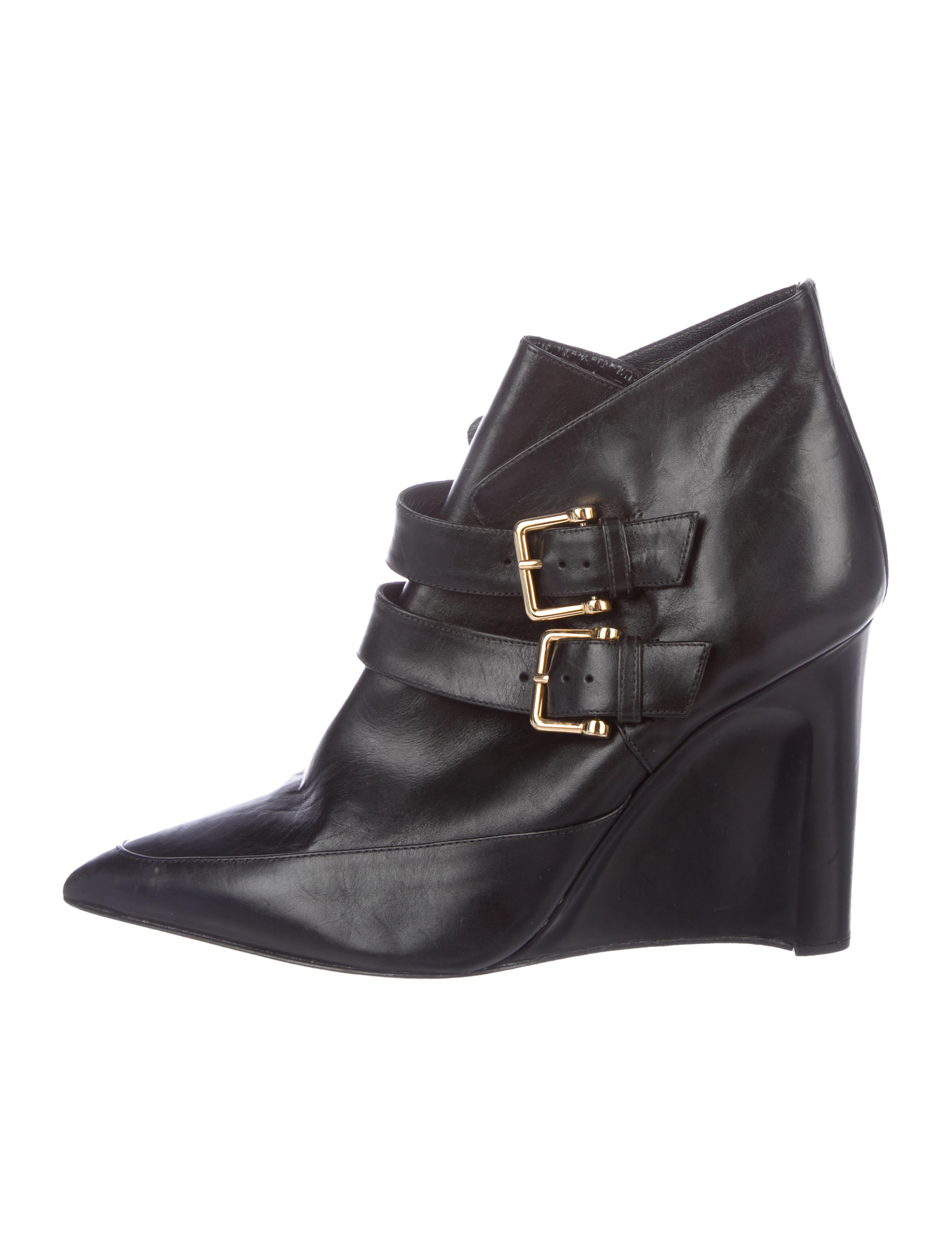 Derek Lam Leather Wedge Booties 2015 for sale sale new arrival cheap sale best peOhkM3