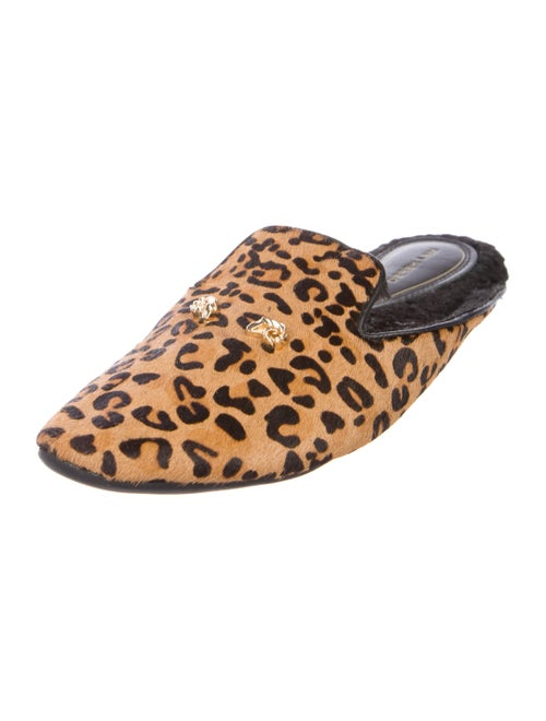 6dac6641d6d5 Derek Lam Leopard Print Ponyhair Slippers - Shoes - DER35082 | The ...