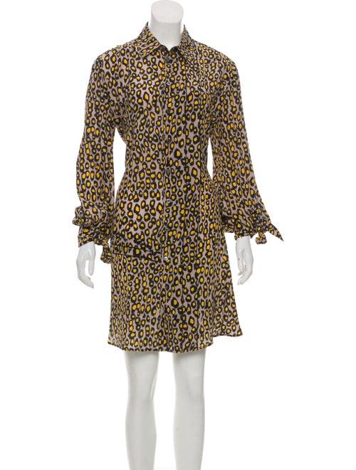 10334c380609df Derek Lam Silk Printed Shirtdress - Clothing - DER38150