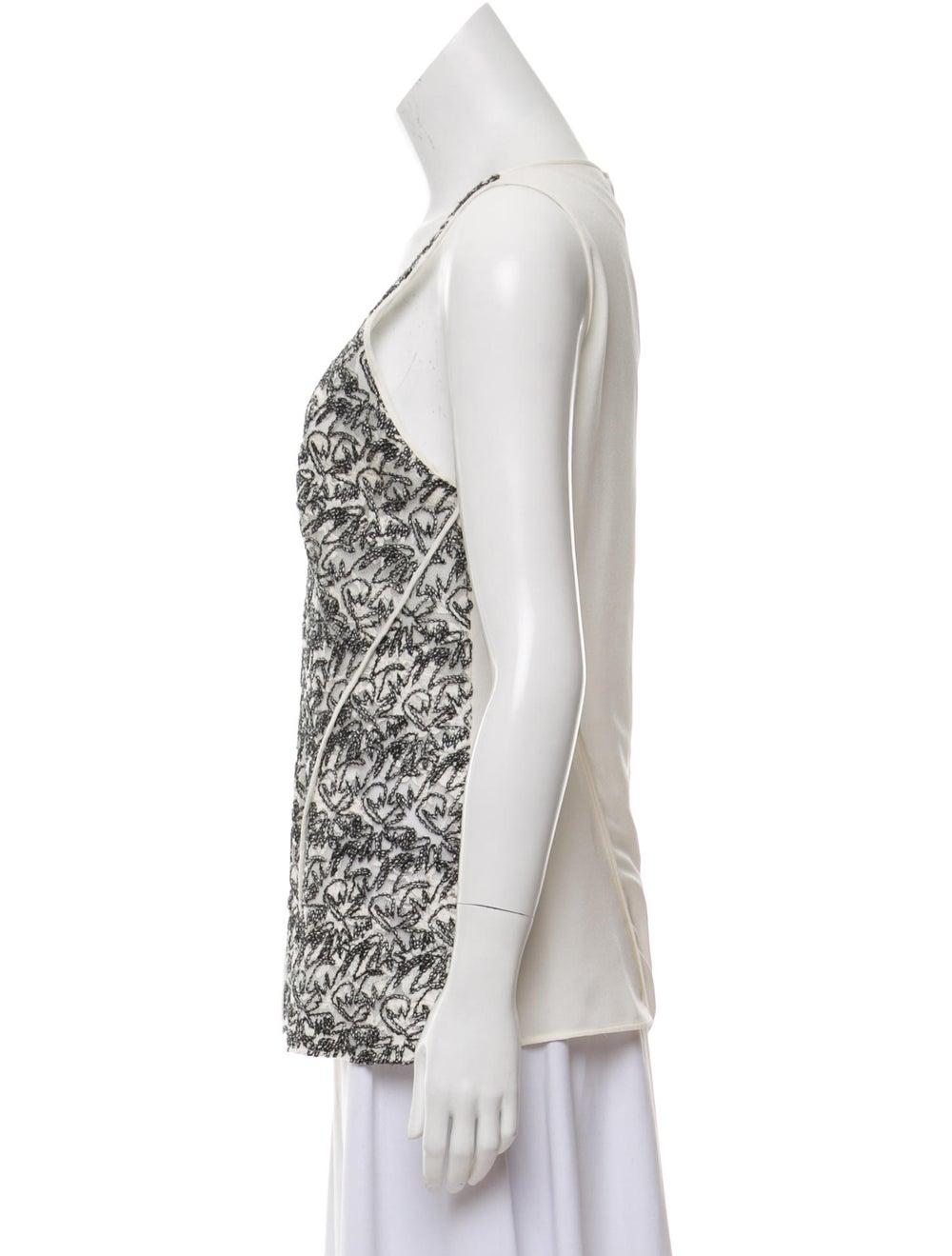 Derek Lam Sleeveless Lace Blouse White - image 2