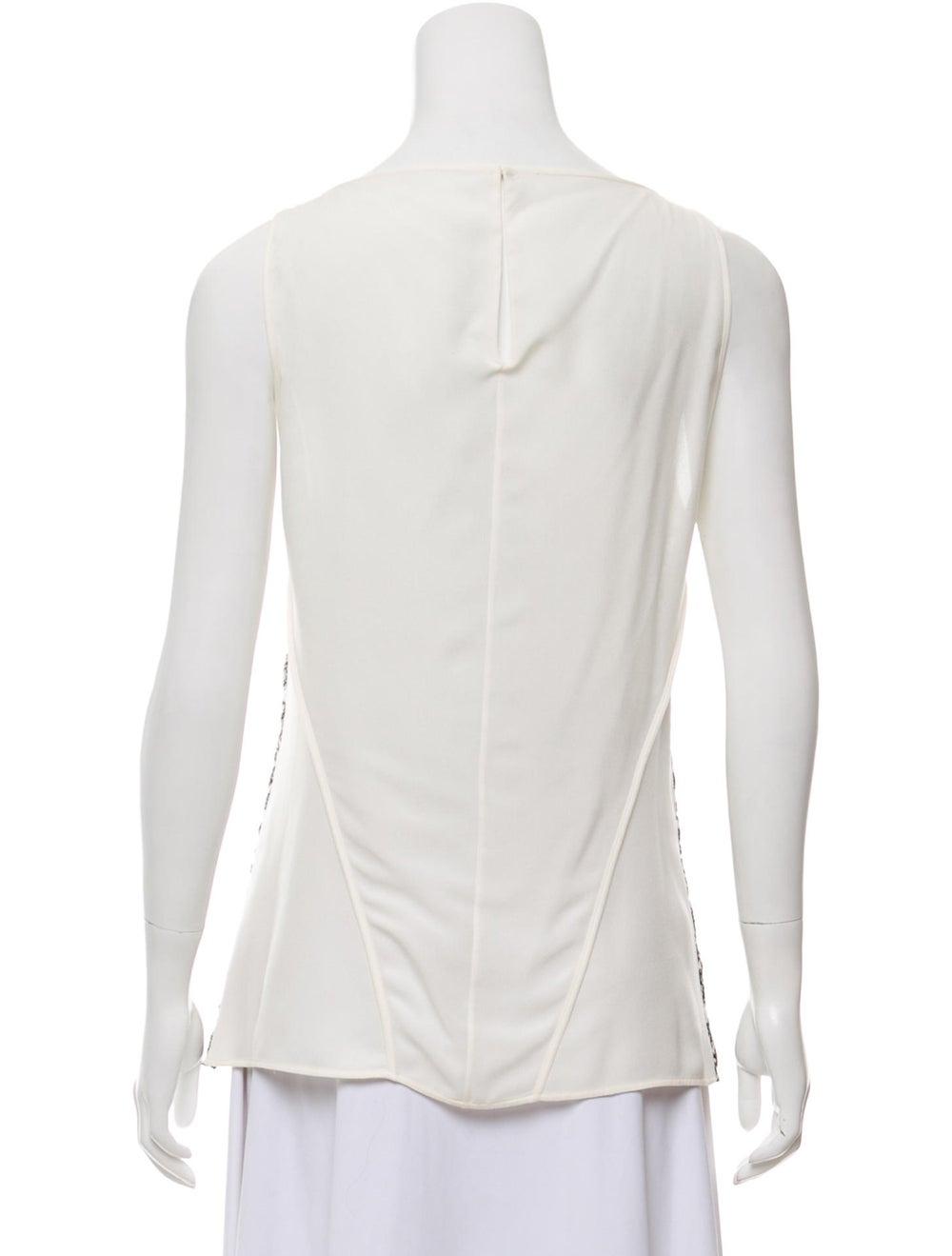Derek Lam Sleeveless Lace Blouse White - image 3