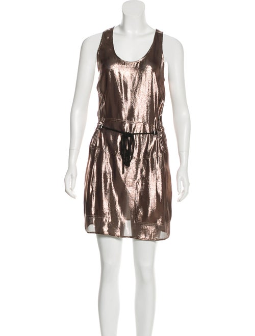 Derek Lam Metallic Mini Dress Metallic