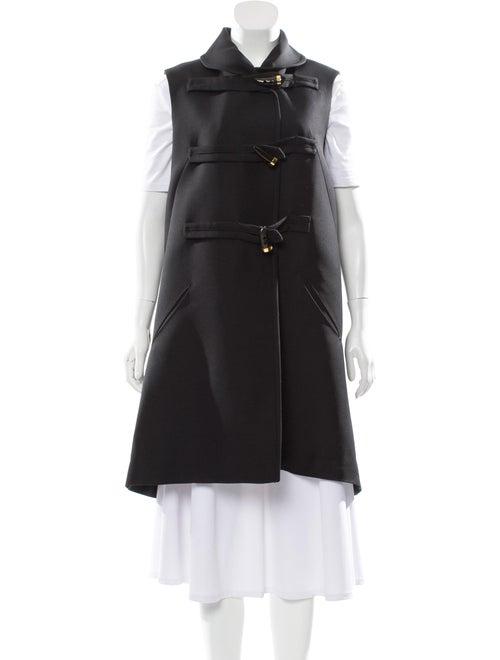 Derek Lam Wool Long Vest Black