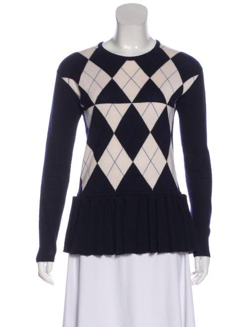 Derek Lam Argyle Cashmere Sweater Navy