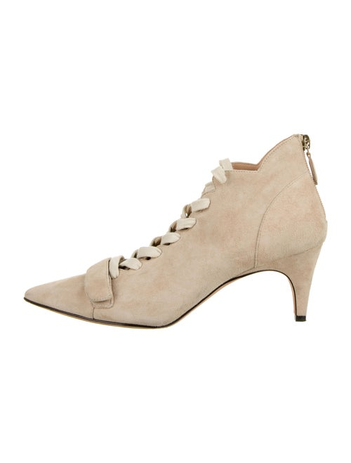 Derek Lam Suede Lace-Up Boots White