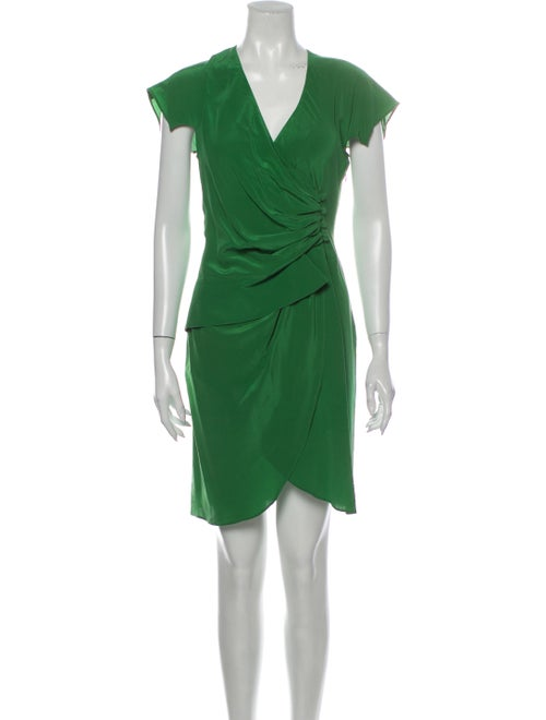 Derek Lam Silk Mini Dress Green