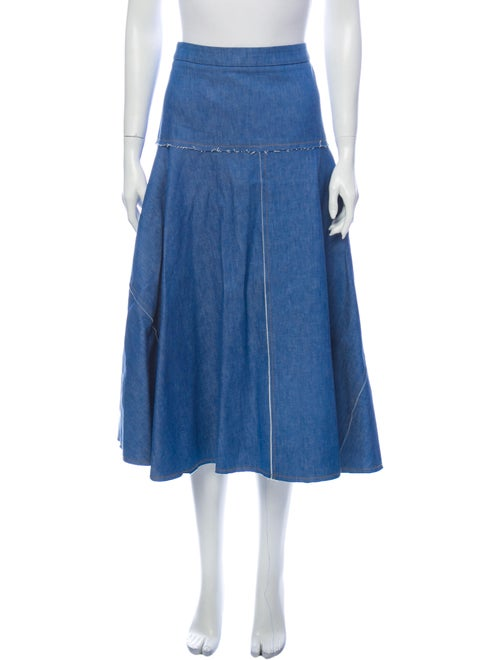 Derek Lam Midi Length Skirt Blue