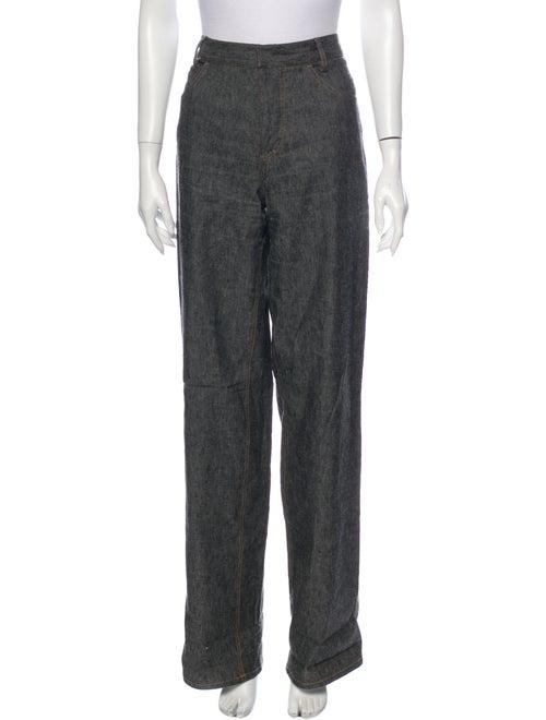 Derek Lam High-Rise Wide Leg Jeans Black
