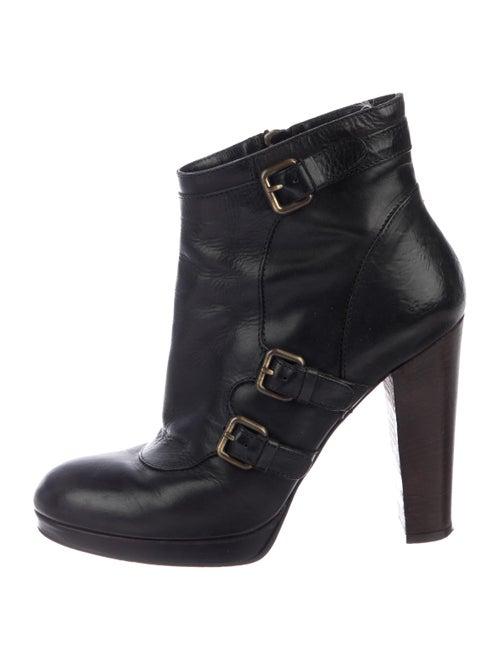 Derek Lam Leather Platform Boots Black