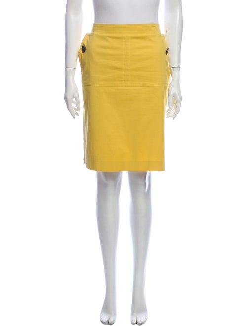 Derek Lam Knee-Length Skirt Yellow