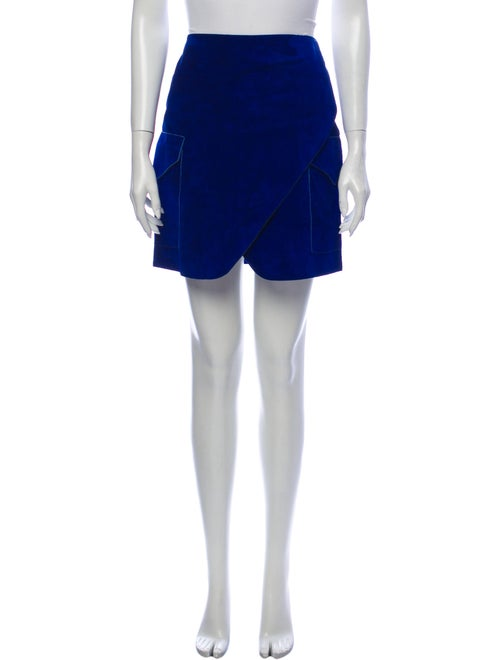 Derek Lam Suede Mini Skirt Blue