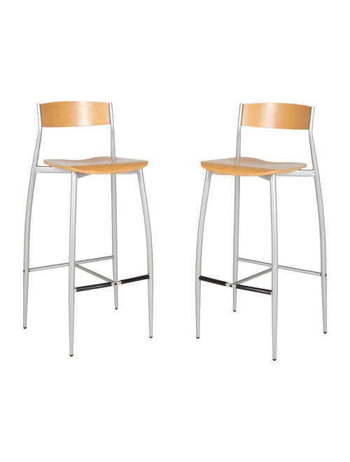 Pleasant Design Within Reach Set Of Two Baba Barstools Furniture Theyellowbook Wood Chair Design Ideas Theyellowbookinfo