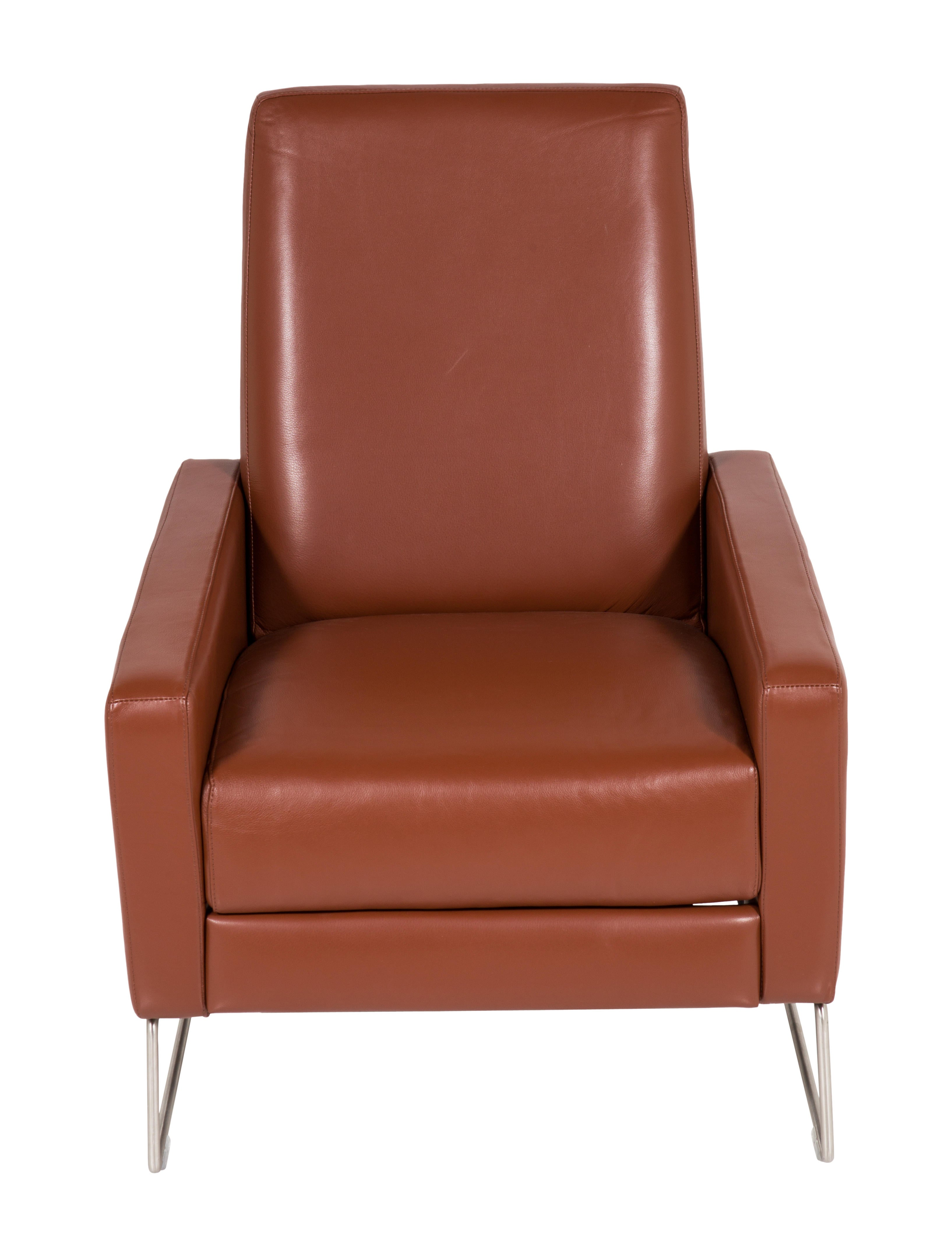 Design Within Reach Cognac Flight Recliner Furniture Deswr20039 The Realreal