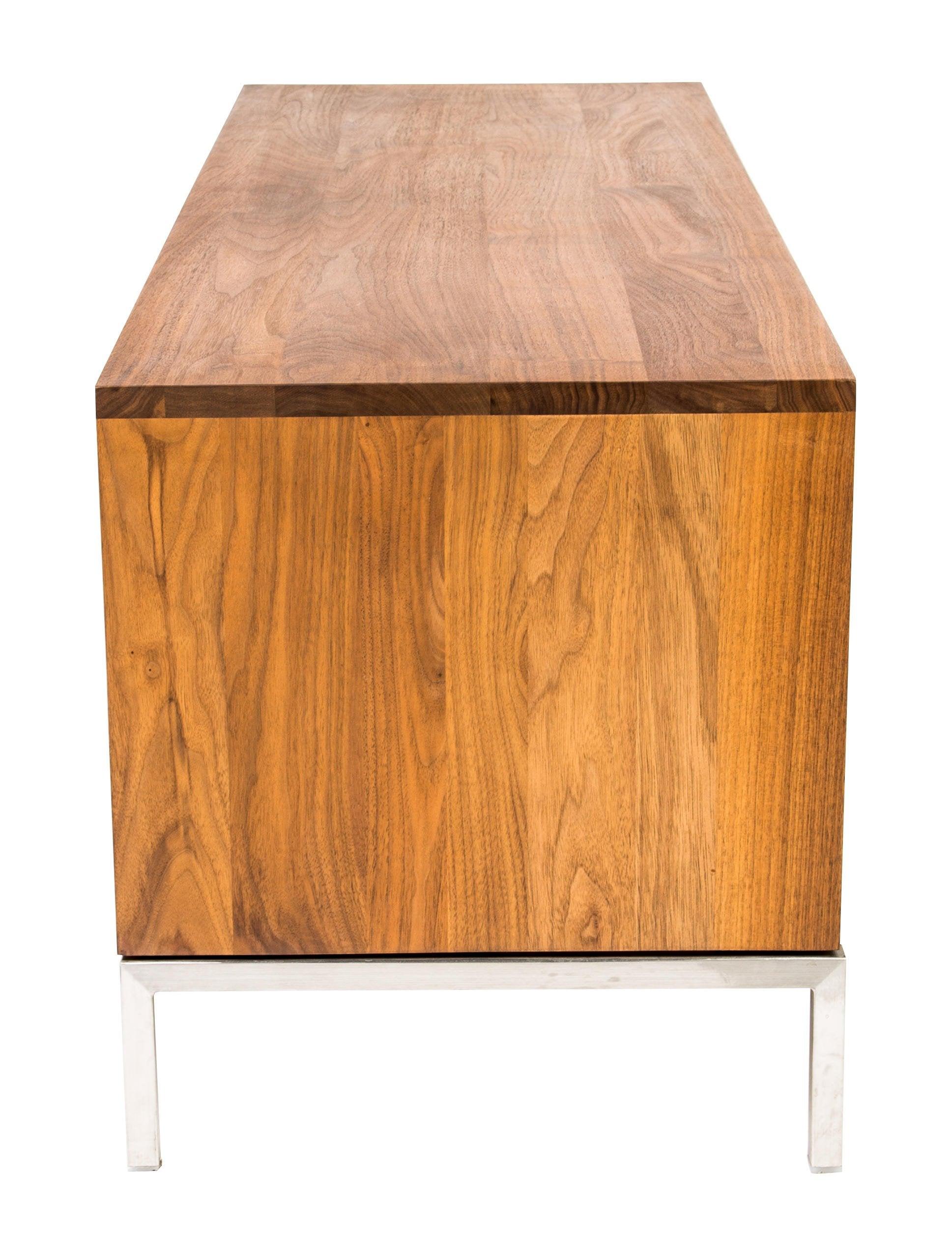 Wood media console furniture deswr the realreal
