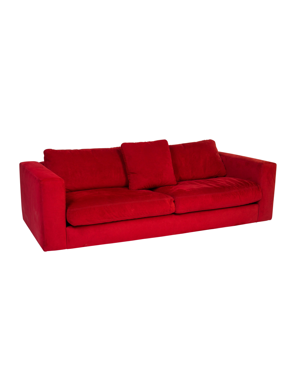 Design Within Reach Reid Ultrasuede Sofa Furniture