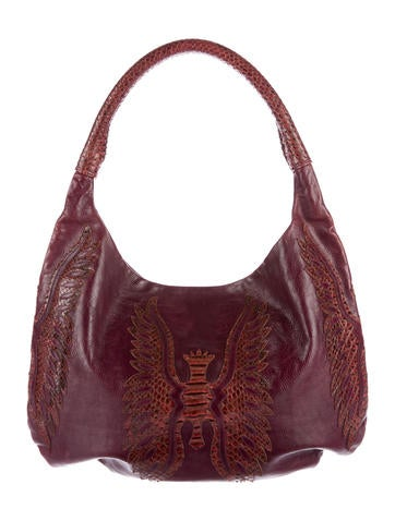 Devi Kroell Python-Trimmmed Leather Hobo
