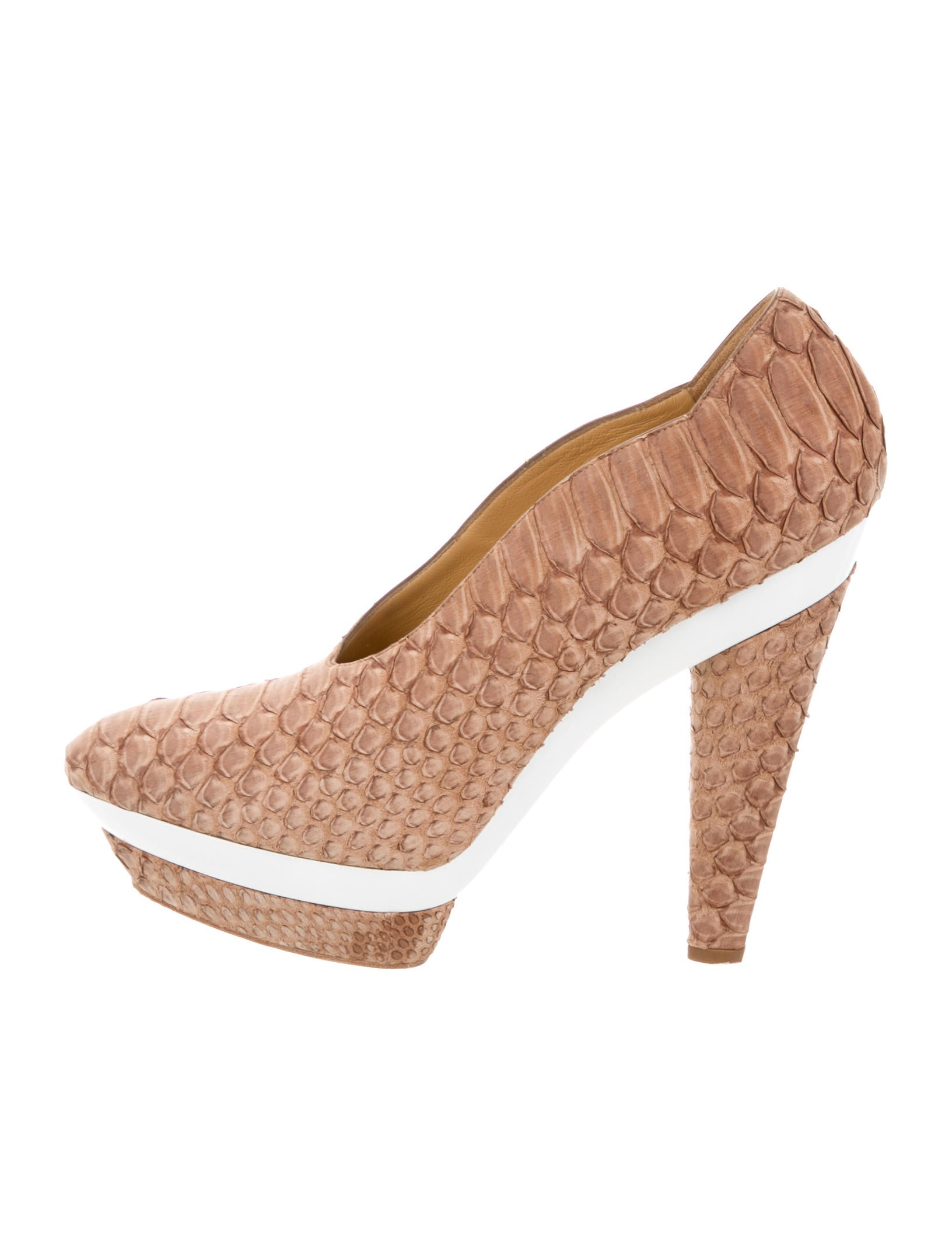Devi Kroell Python Platform Pumps cheap sale fashion Style sale choice wTYucBiDu