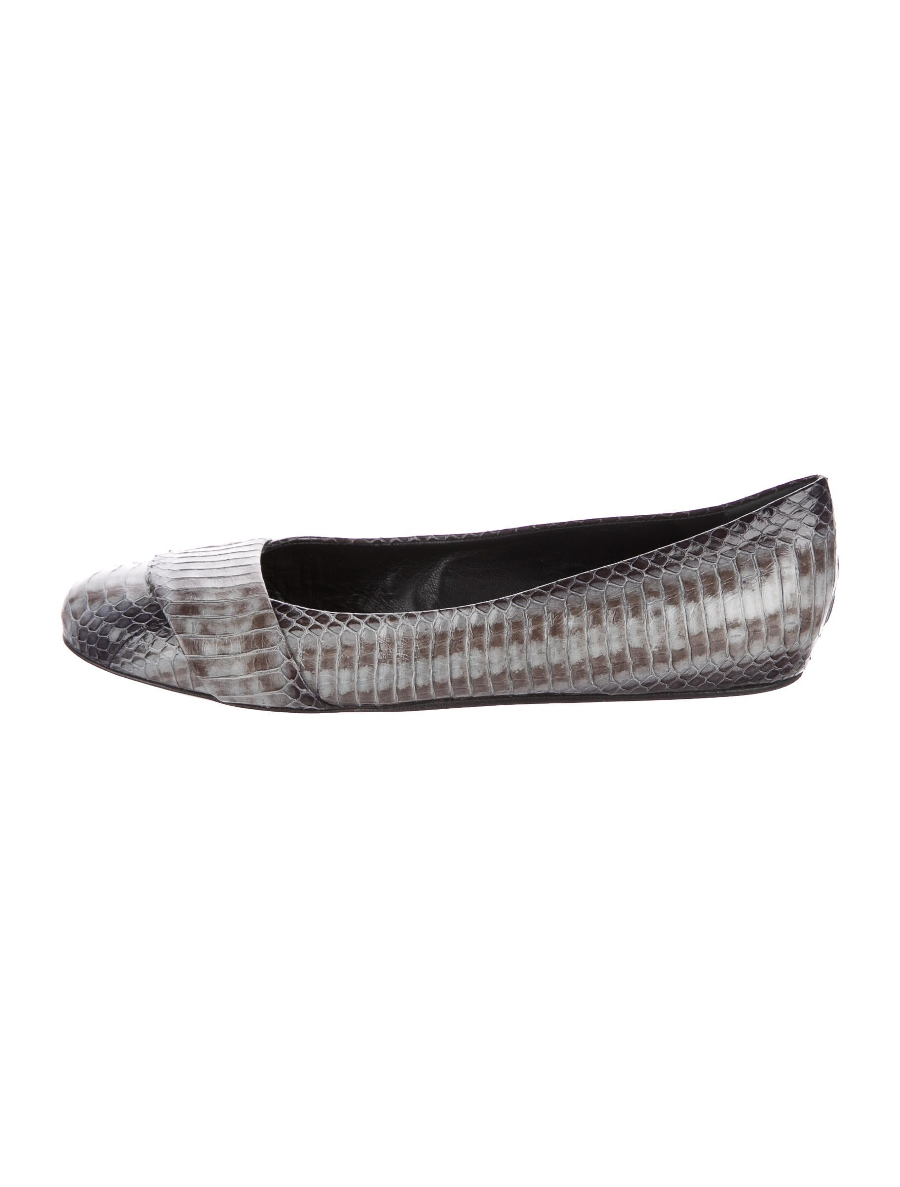 Devi Kroell Round-Toe Python Flats geniue stockist for sale sale 2014 newest cheap sale 2015 new SSpRR9BbE