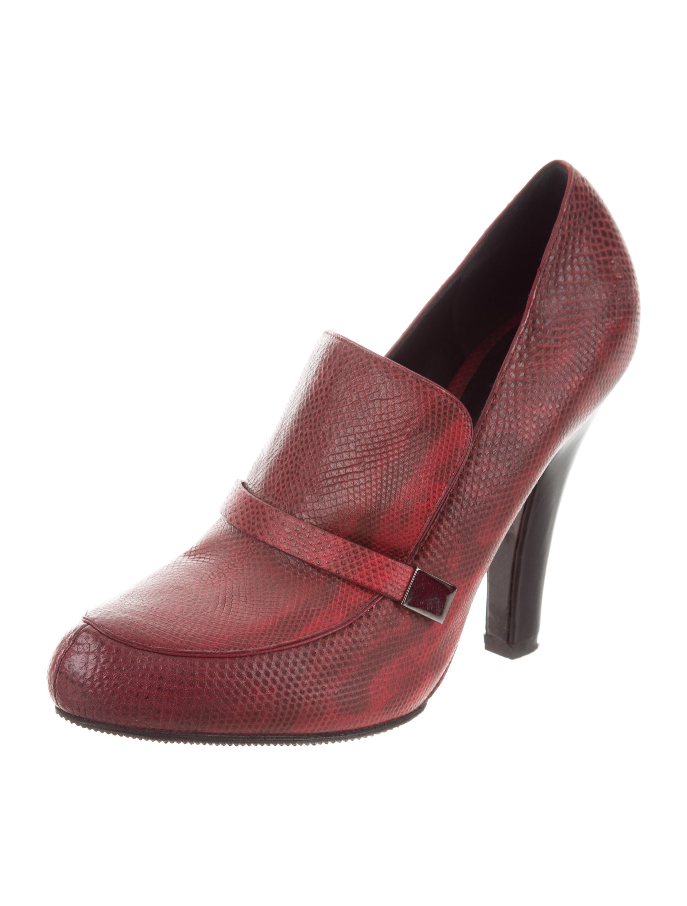 store sale online Devi Kroell Karung Pointed-Toe Booties cheap real authentic buy cheap latest sale visit qlCw3lluH