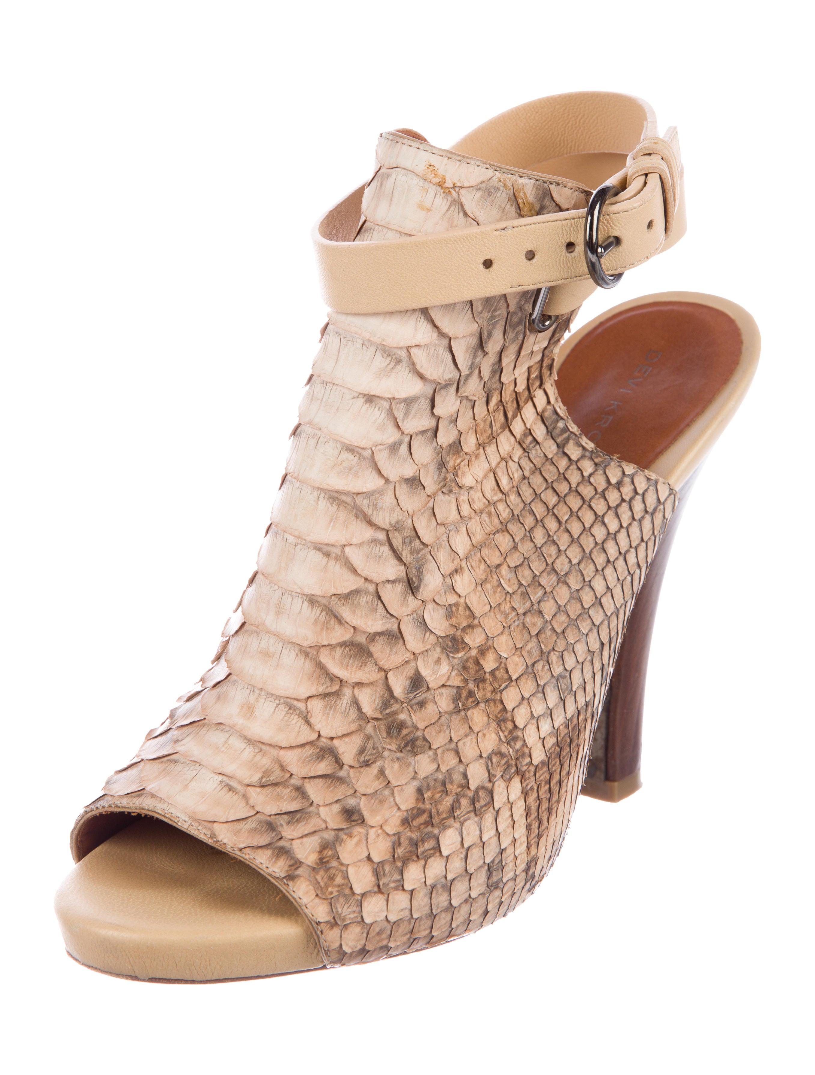 Devi Kroell Python Glove Sandals outlet shopping online zadkPIb