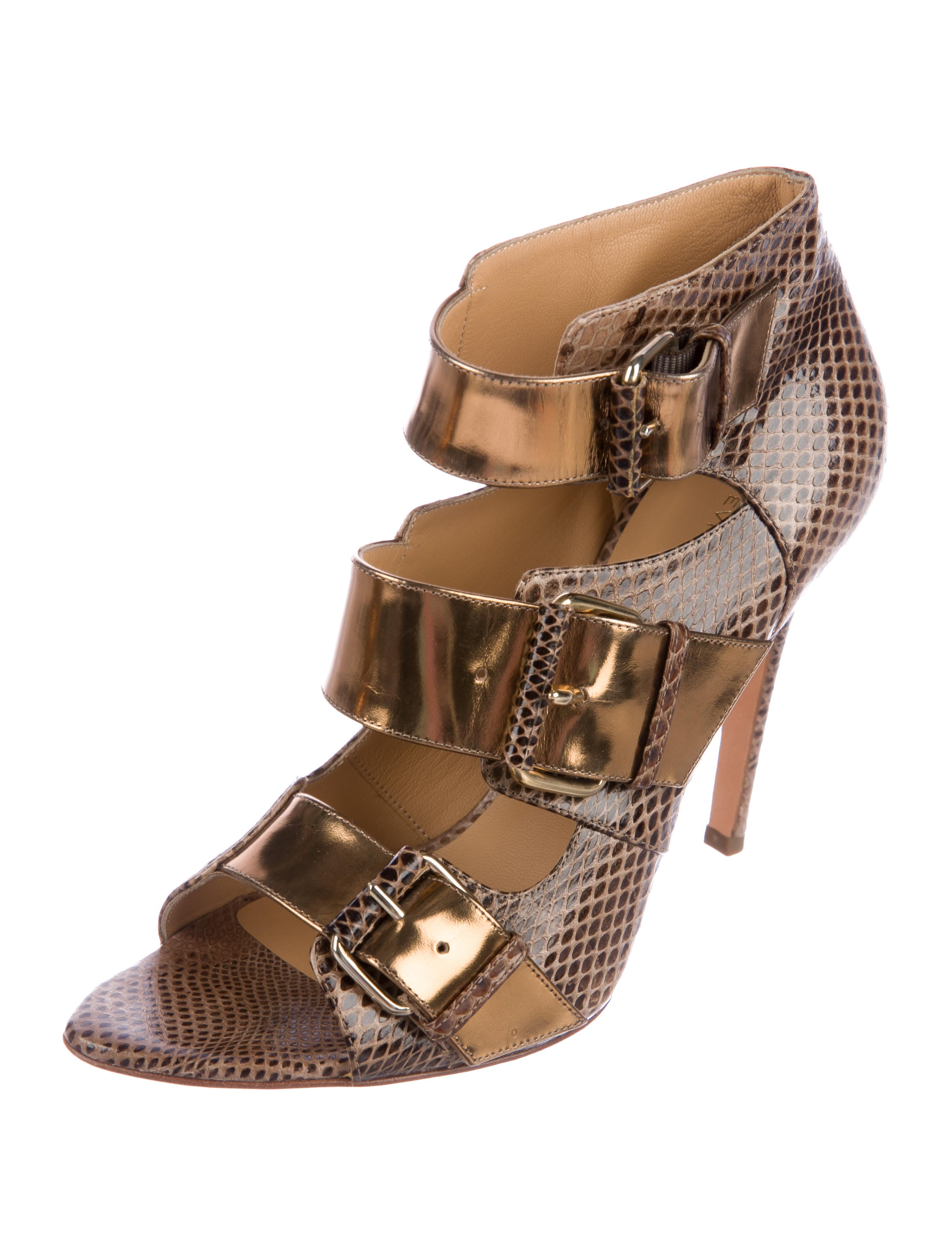 comfortable cheap price Devi Kroell Embossed Leather Sandals brand new unisex sale online free shipping genuine 8NxQYnY8Y
