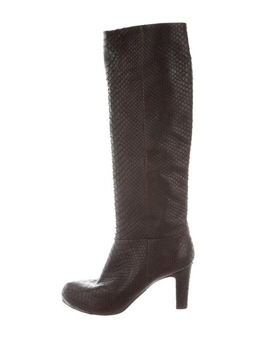Devi Kroell Snakeskin Boots Brown