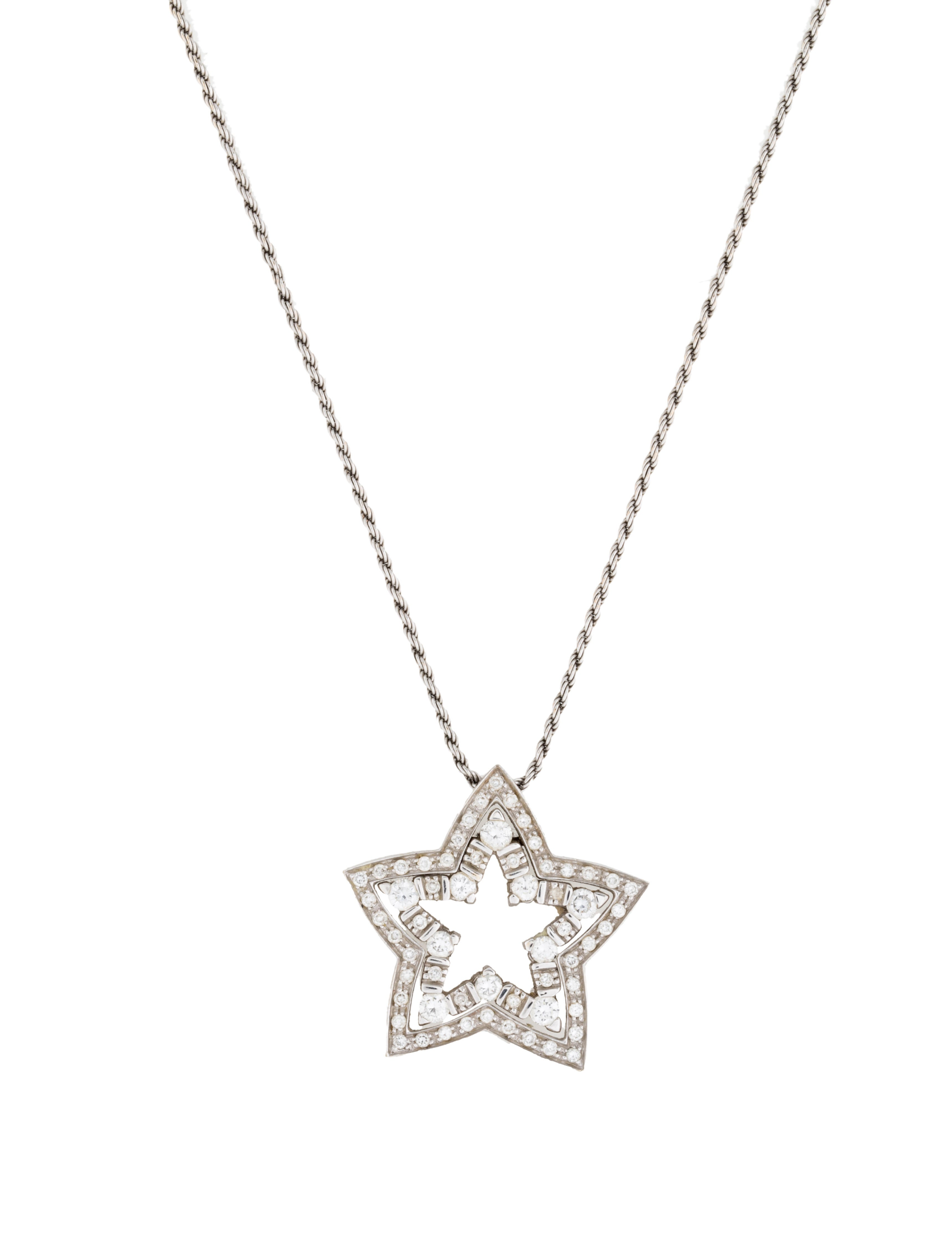 Damiani Belle Epoque Diamond Star Necklace Necklaces DIA