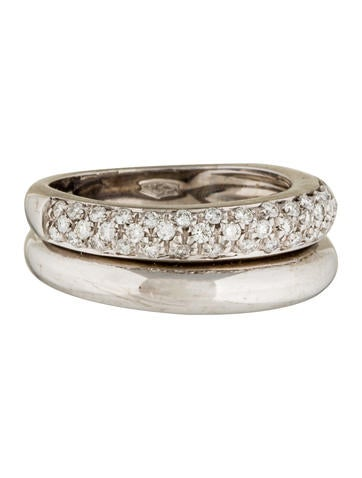 Damiani 18K Diamond Double Band