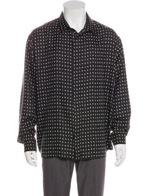 Dior MEN Silk Printed Dress Shirt Black