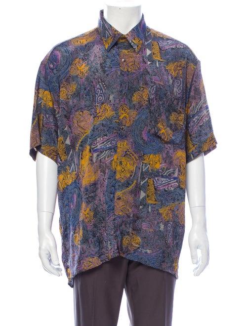 Dior MEN Vintage Silk Shirt Purple