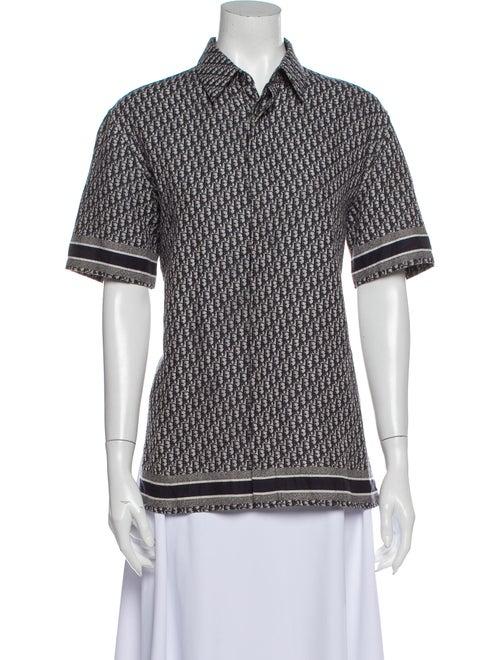 Dior MEN 2020 Oblique Jacquard Poplin Shirt Printe